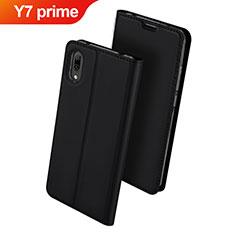 Coque Portefeuille Livre Cuir Etui Clapet pour Huawei Y7 Prime (2019) Noir