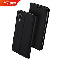 Coque Portefeuille Livre Cuir Etui Clapet pour Huawei Y7 Pro (2019) Noir