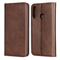 Coque Portefeuille Livre Cuir Etui Clapet pour Huawei Y7p Marron