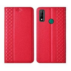 Coque Portefeuille Livre Cuir Etui Clapet pour Huawei Y8s Rouge
