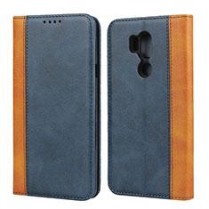 Coque Portefeuille Livre Cuir Etui Clapet pour LG G7 Bleu