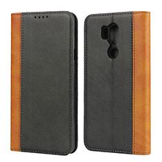 Coque Portefeuille Livre Cuir Etui Clapet pour LG G7 Noir