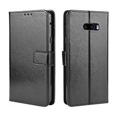 Coque Portefeuille Livre Cuir Etui Clapet pour LG G8X ThinQ Noir