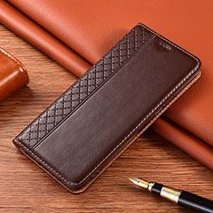 Coque Portefeuille Livre Cuir Etui Clapet pour LG K22 Marron
