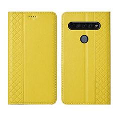 Coque Portefeuille Livre Cuir Etui Clapet pour LG K41S Jaune
