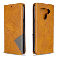 Coque Portefeuille Livre Cuir Etui Clapet pour LG K51 Jaune