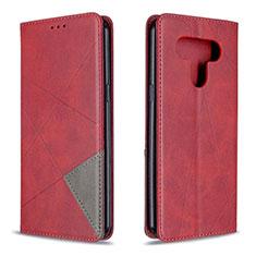 Coque Portefeuille Livre Cuir Etui Clapet pour LG K51 Rouge