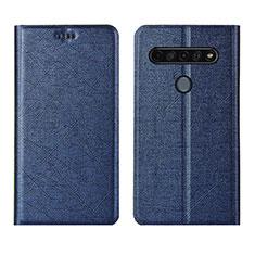 Coque Portefeuille Livre Cuir Etui Clapet pour LG K51S Bleu