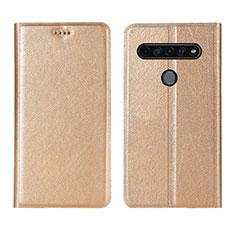 Coque Portefeuille Livre Cuir Etui Clapet pour LG K51S Or