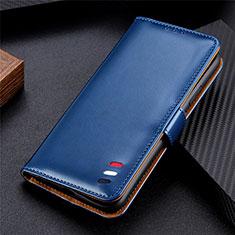 Coque Portefeuille Livre Cuir Etui Clapet pour LG K52 Bleu
