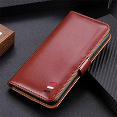 Coque Portefeuille Livre Cuir Etui Clapet pour LG K52 Marron