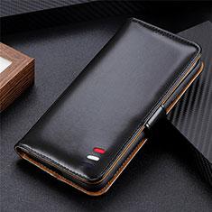 Coque Portefeuille Livre Cuir Etui Clapet pour LG K52 Noir