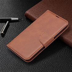 Coque Portefeuille Livre Cuir Etui Clapet pour LG K61 Marron