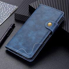 Coque Portefeuille Livre Cuir Etui Clapet pour LG K92 5G Bleu