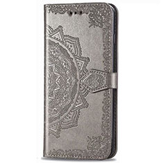 Coque Portefeuille Livre Cuir Etui Clapet pour LG Stylo 6 Gris