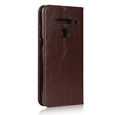 Coque Portefeuille Livre Cuir Etui Clapet pour LG V50 ThinQ 5G Marron