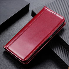 Coque Portefeuille Livre Cuir Etui Clapet pour LG Velvet 5G Vin Rouge