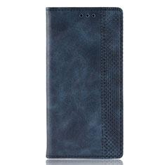 Coque Portefeuille Livre Cuir Etui Clapet pour Motorola Moto E6s (2020) Bleu
