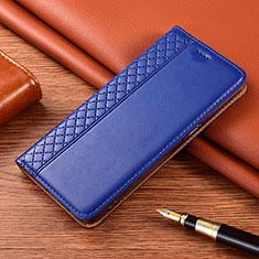 Coque Portefeuille Livre Cuir Etui Clapet pour Motorola Moto E7 Plus Bleu