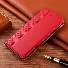 Coque Portefeuille Livre Cuir Etui Clapet pour Motorola Moto E7 Plus Rouge