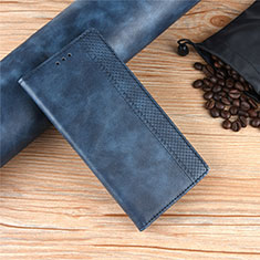 Coque Portefeuille Livre Cuir Etui Clapet pour Motorola Moto Edge Bleu