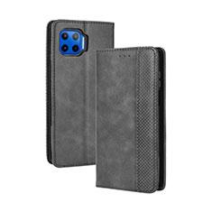 Coque Portefeuille Livre Cuir Etui Clapet pour Motorola Moto G 5G Plus Noir