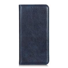 Coque Portefeuille Livre Cuir Etui Clapet pour Motorola Moto G Fast Bleu
