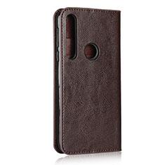 Coque Portefeuille Livre Cuir Etui Clapet pour Motorola Moto G8 Play Marron