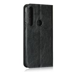 Coque Portefeuille Livre Cuir Etui Clapet pour Motorola Moto G8 Play Noir