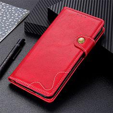 Coque Portefeuille Livre Cuir Etui Clapet pour Motorola Moto G9 Plus Rouge
