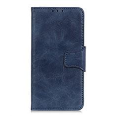 Coque Portefeuille Livre Cuir Etui Clapet pour Motorola Moto One Fusion Bleu