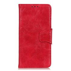 Coque Portefeuille Livre Cuir Etui Clapet pour Motorola Moto One Fusion Rouge