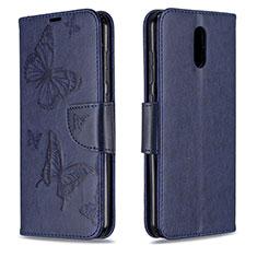 Coque Portefeuille Livre Cuir Etui Clapet pour Nokia 2.3 Bleu