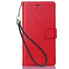Coque Portefeuille Livre Cuir Etui Clapet pour Nokia 3.1 Plus Rouge