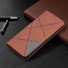 Coque Portefeuille Livre Cuir Etui Clapet pour Nokia 3.4 Marron