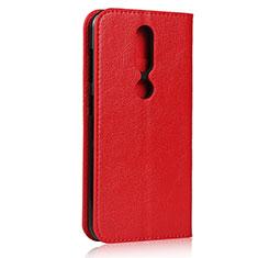 Coque Portefeuille Livre Cuir Etui Clapet pour Nokia 4.2 Rouge