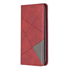 Coque Portefeuille Livre Cuir Etui Clapet pour Nokia 5.3 Rouge