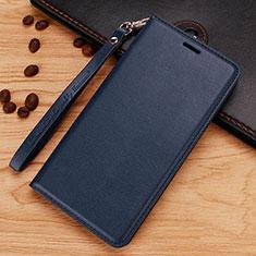 Coque Portefeuille Livre Cuir Etui Clapet pour Nokia 7.1 Plus Bleu
