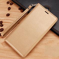 Coque Portefeuille Livre Cuir Etui Clapet pour Nokia 7.1 Plus Or