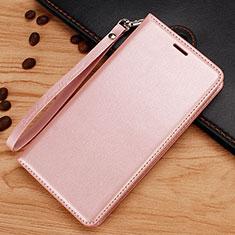 Coque Portefeuille Livre Cuir Etui Clapet pour Nokia 7.1 Plus Or Rose
