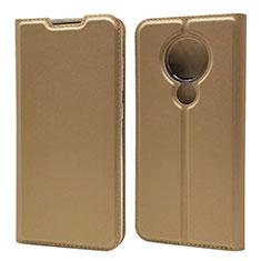 Coque Portefeuille Livre Cuir Etui Clapet pour Nokia 7.2 Or