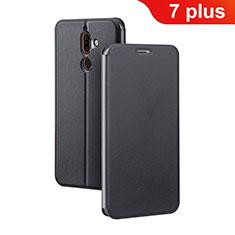 Coque Portefeuille Livre Cuir Etui Clapet pour Nokia 7 Plus Noir