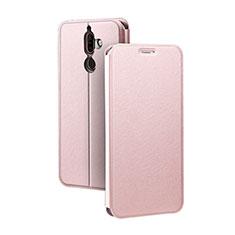 Coque Portefeuille Livre Cuir Etui Clapet pour Nokia 7 Plus Or Rose