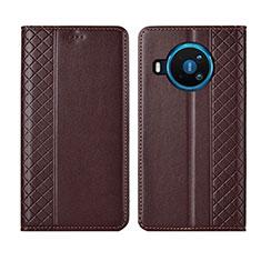 Coque Portefeuille Livre Cuir Etui Clapet pour Nokia 8.3 5G Marron