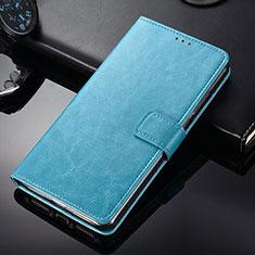Coque Portefeuille Livre Cuir Etui Clapet pour Nokia 9 PureView Bleu Ciel