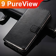 Coque Portefeuille Livre Cuir Etui Clapet pour Nokia 9 PureView Noir