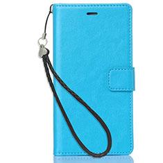 Coque Portefeuille Livre Cuir Etui Clapet pour Nokia X3 Bleu Ciel