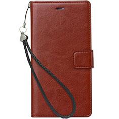 Coque Portefeuille Livre Cuir Etui Clapet pour Nokia X3 Marron