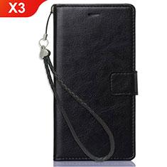 Coque Portefeuille Livre Cuir Etui Clapet pour Nokia X3 Noir