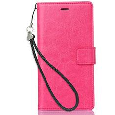 Coque Portefeuille Livre Cuir Etui Clapet pour Nokia X3 Rose Rouge